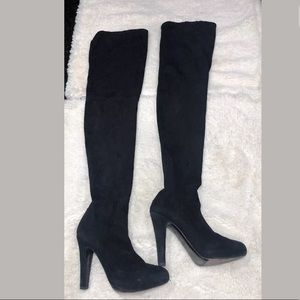 Flavio Castellani Suede Pull On Over Knee Boots